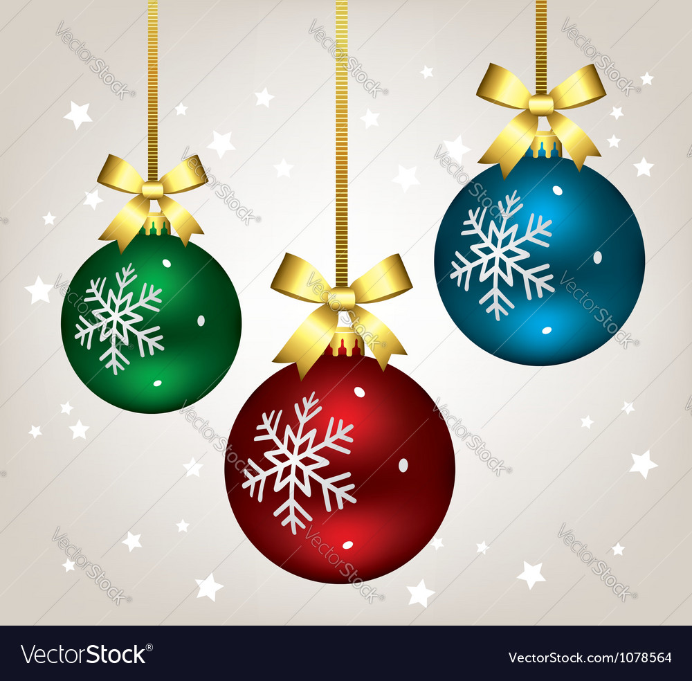 Christmas balls vector