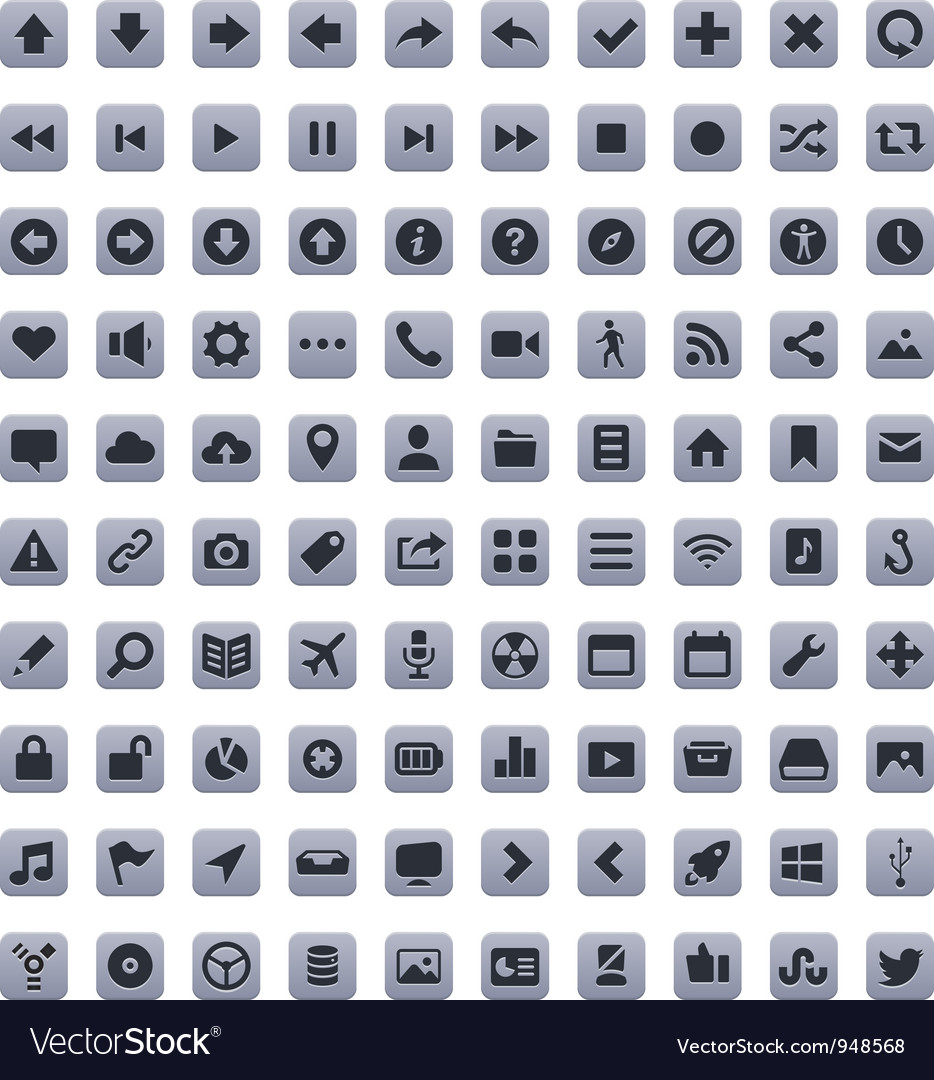 Stroke icons vector