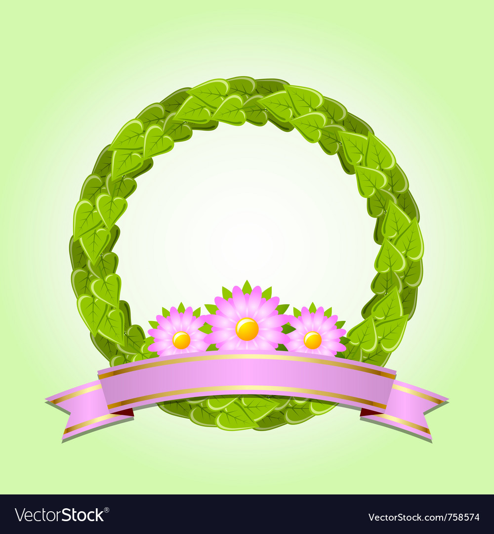 Nature wreath vector