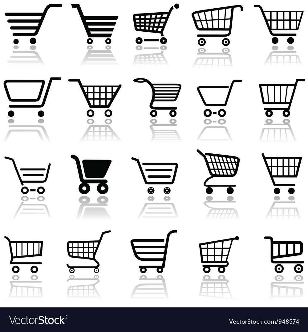 Shopping cart sign vector