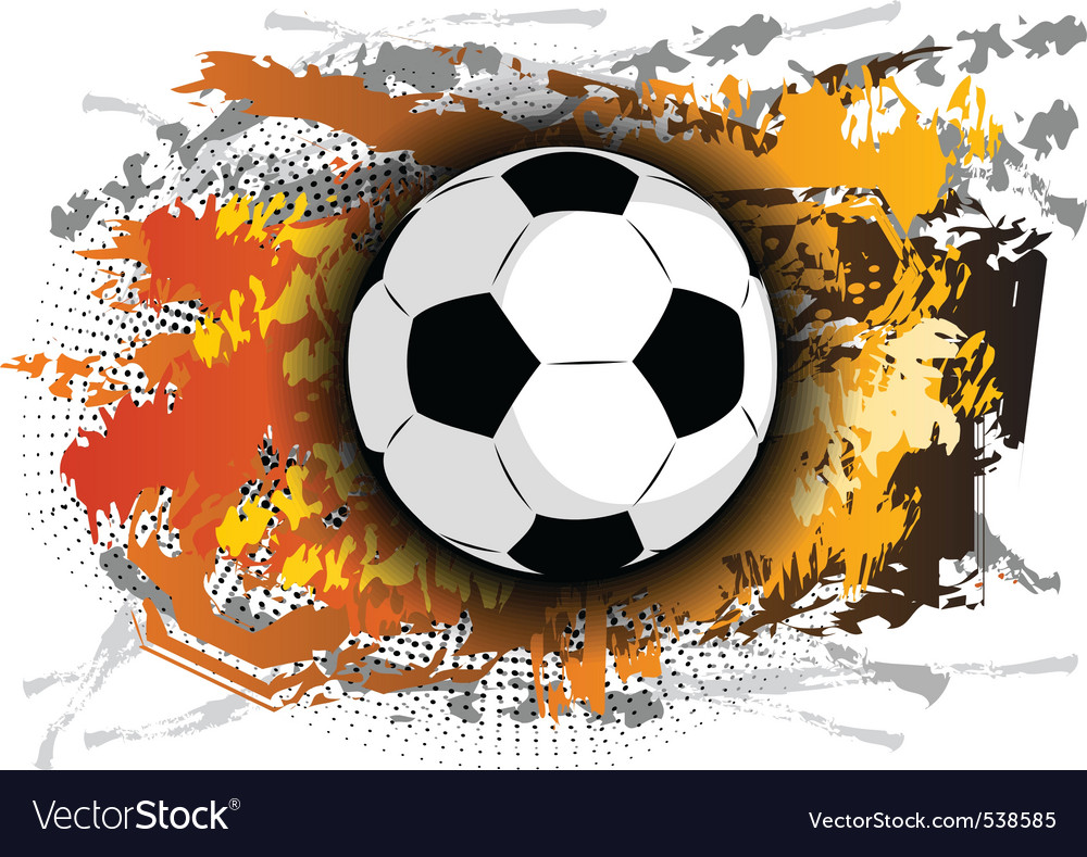 Football theme on the background vector