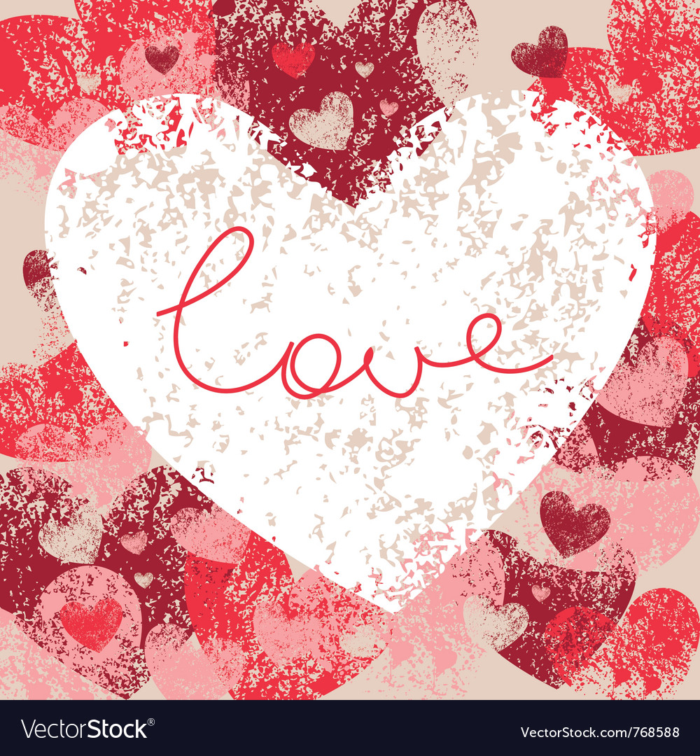 Card of valentine day vector