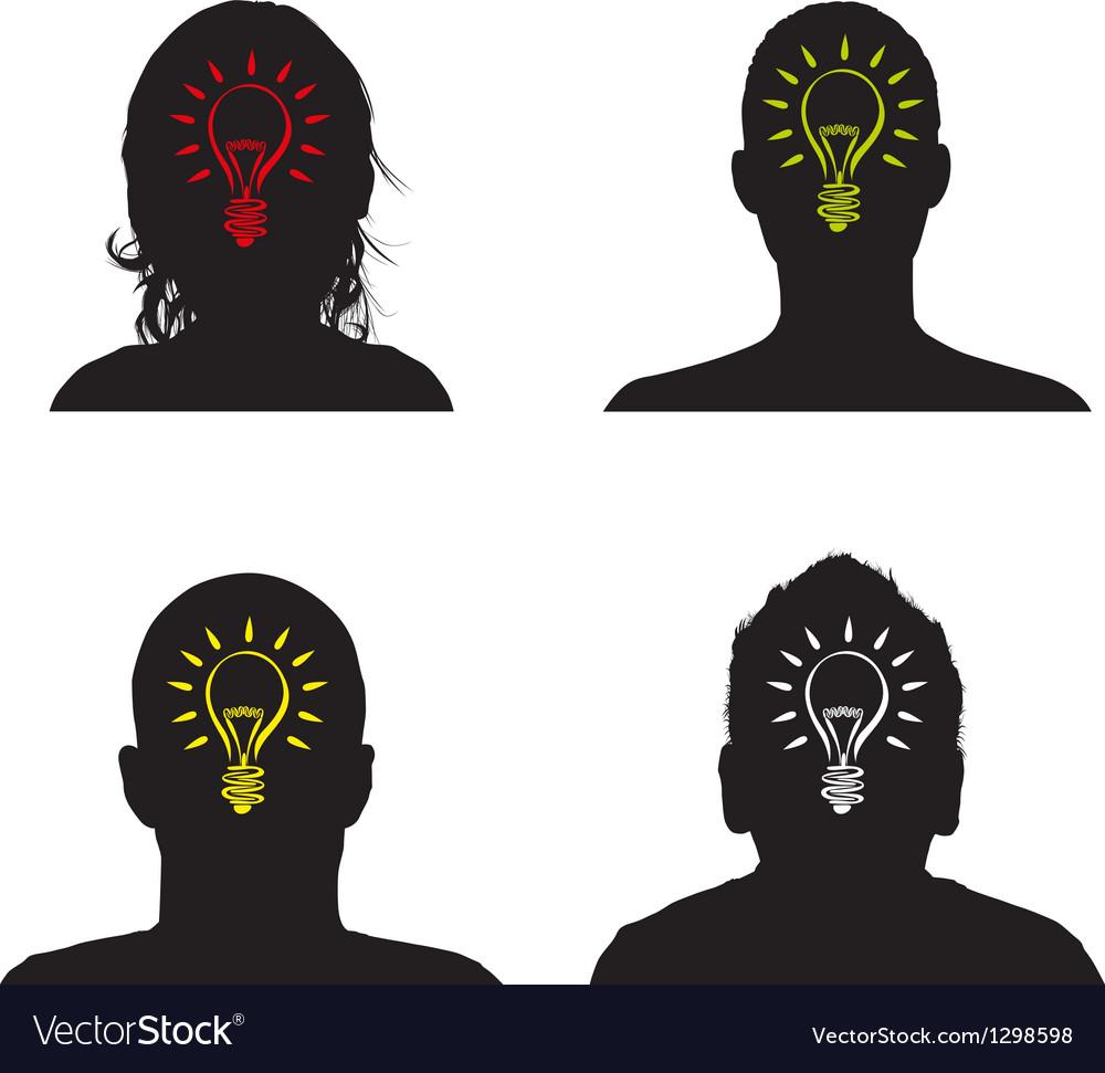 Lightbulb profile vector