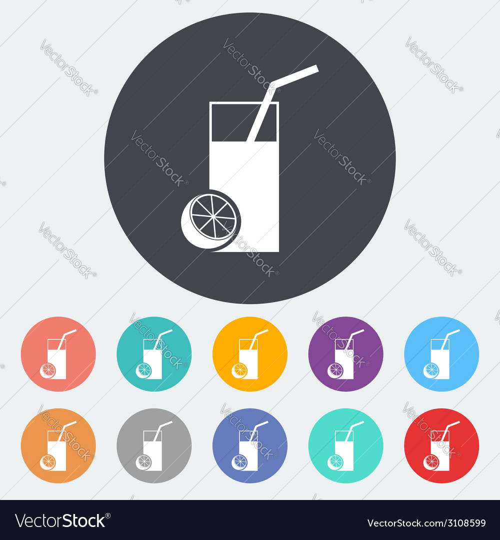 Fruit juice icon vector by smoki image 3108599 vectorstock