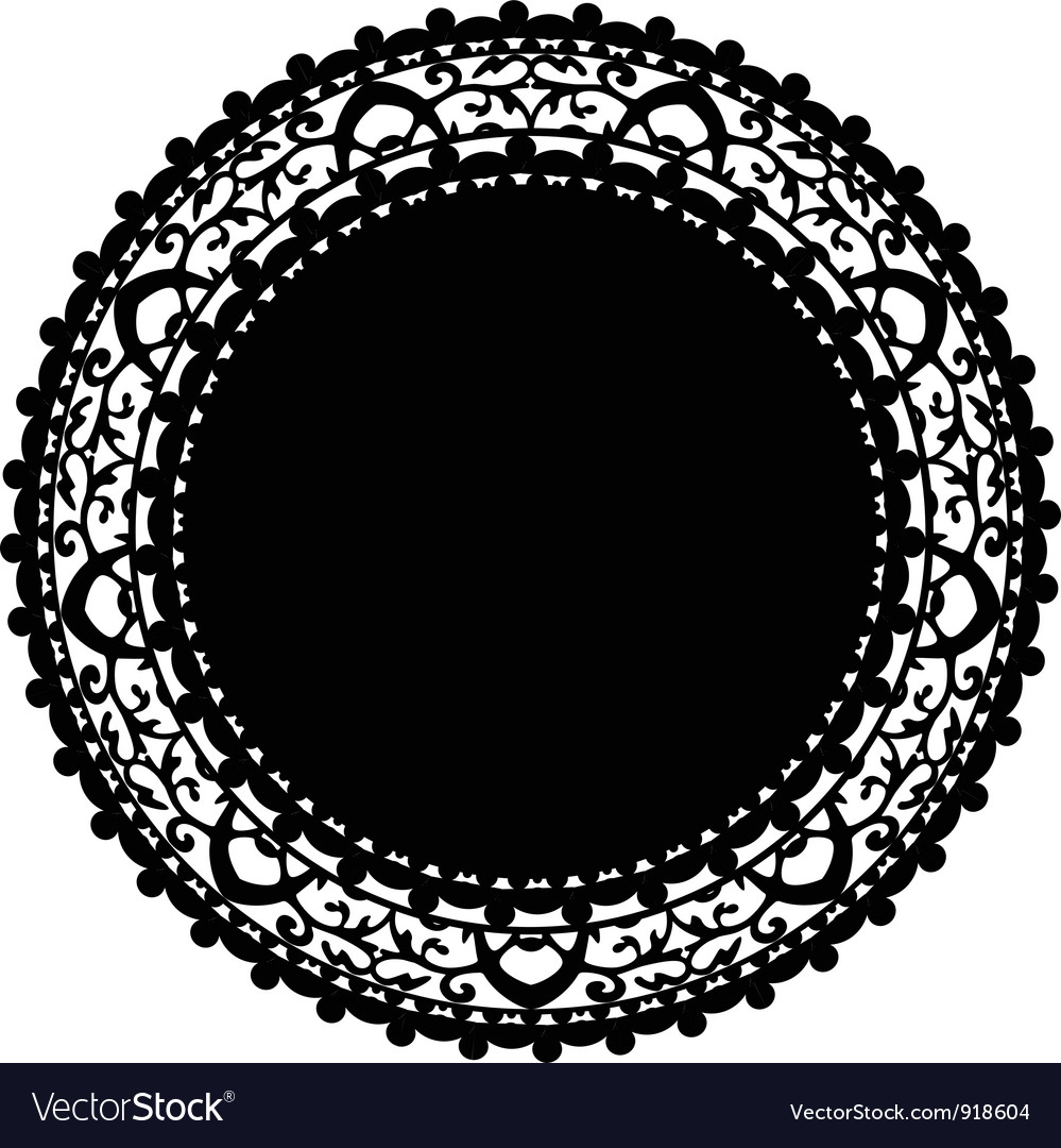 Black napkin vector