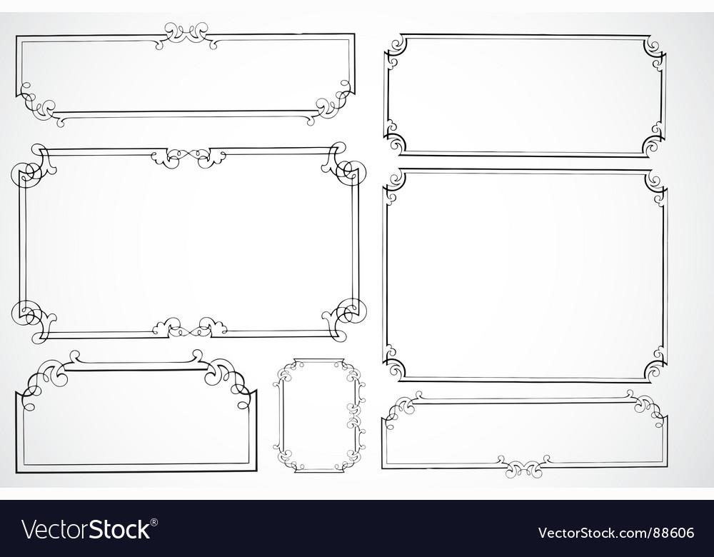 Certificate frames vector
