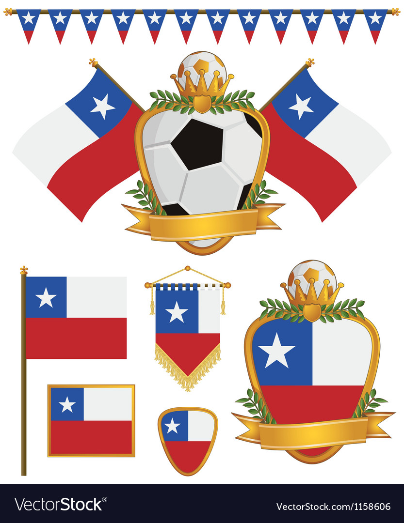 Chile flags vector