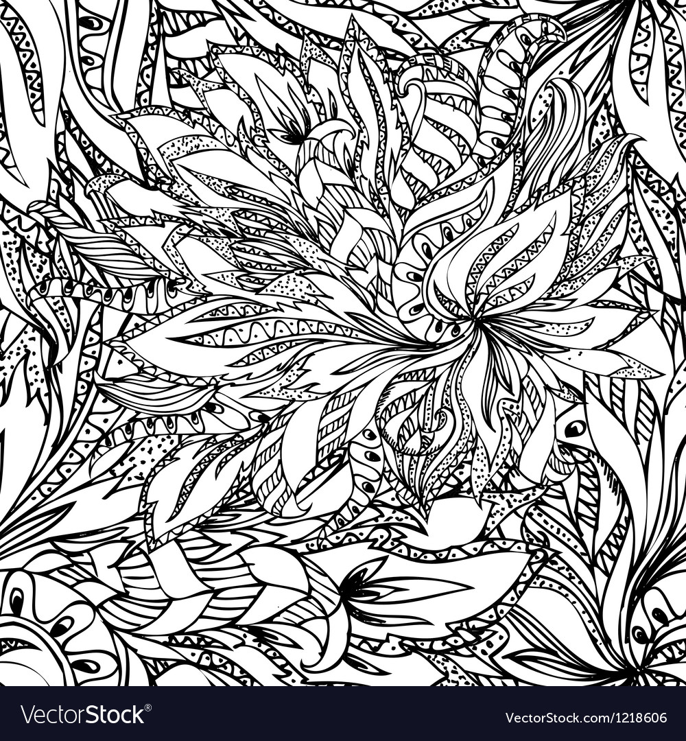 Flower abstract seamless vector