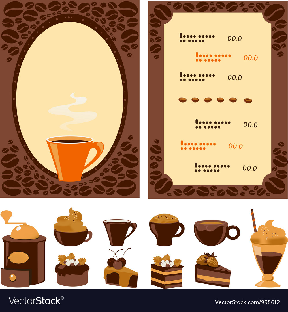 Menu for cafe vector