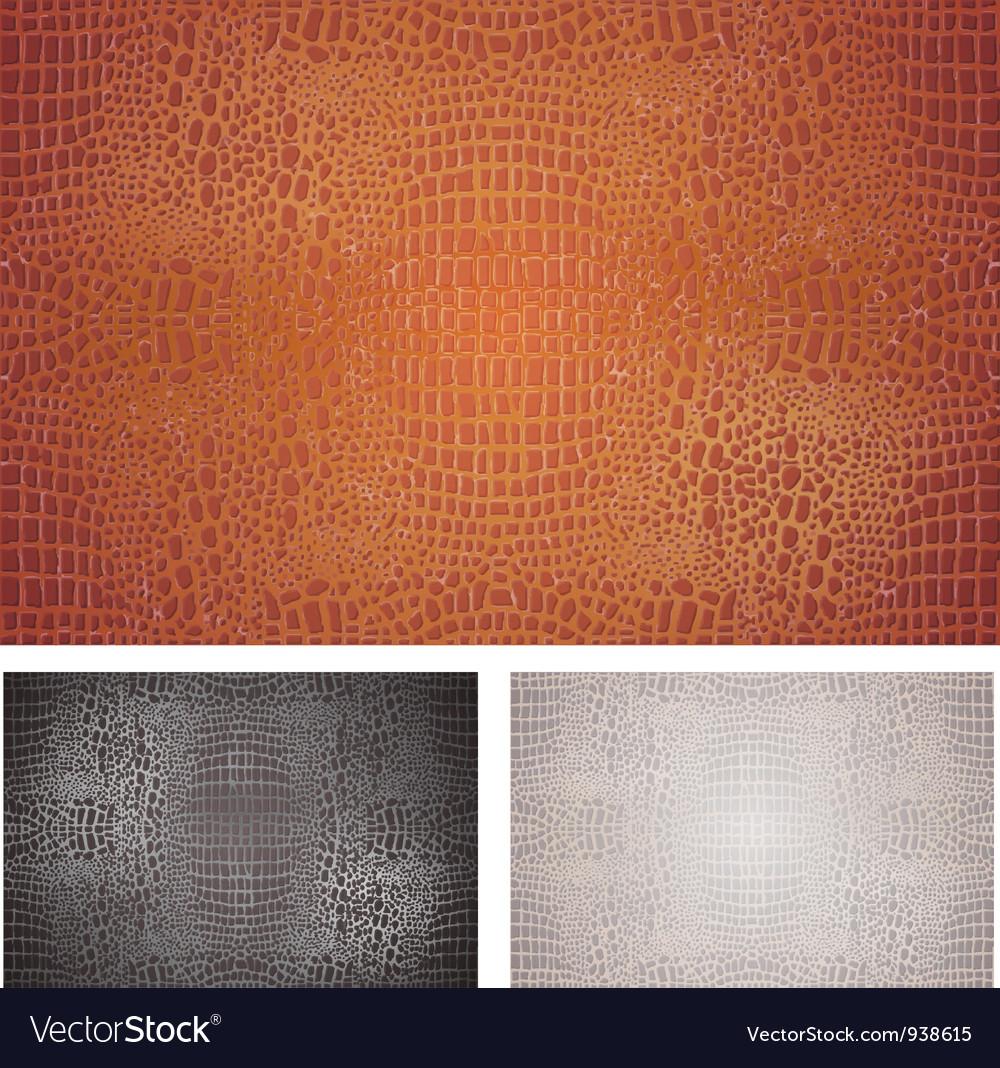 Crocodile skin texture vector
