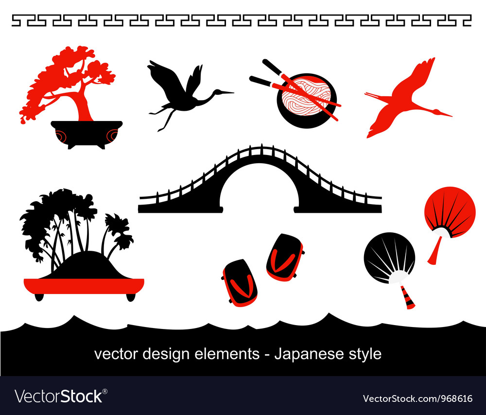 Japan set vector