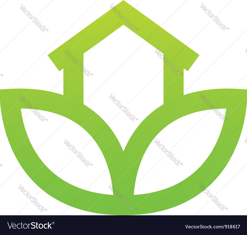 Green house sign vector