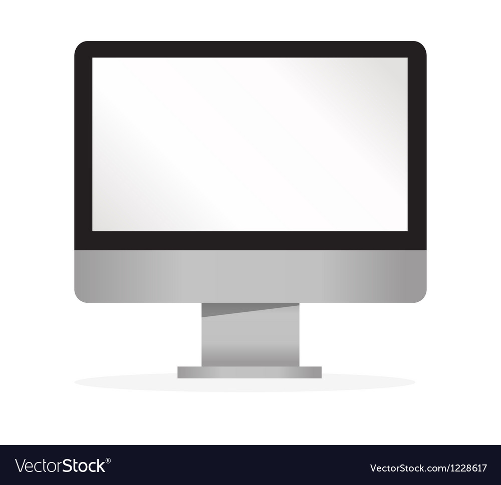 Lcd tv monitor isolated vector