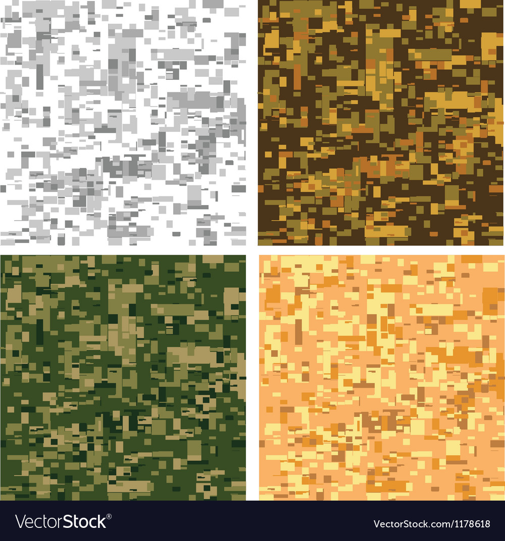 Digital pixel camouflage vector