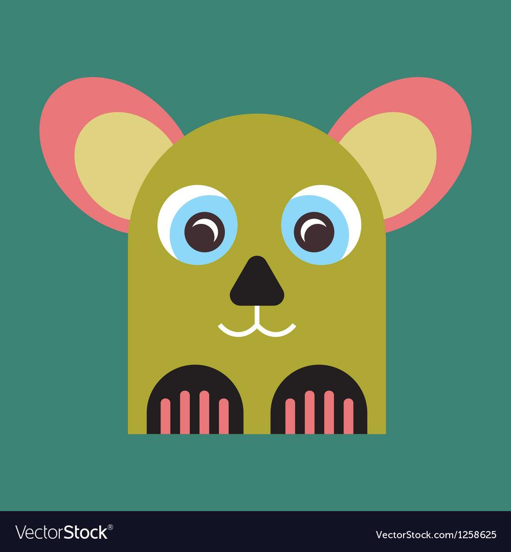Strange animal mascot vector