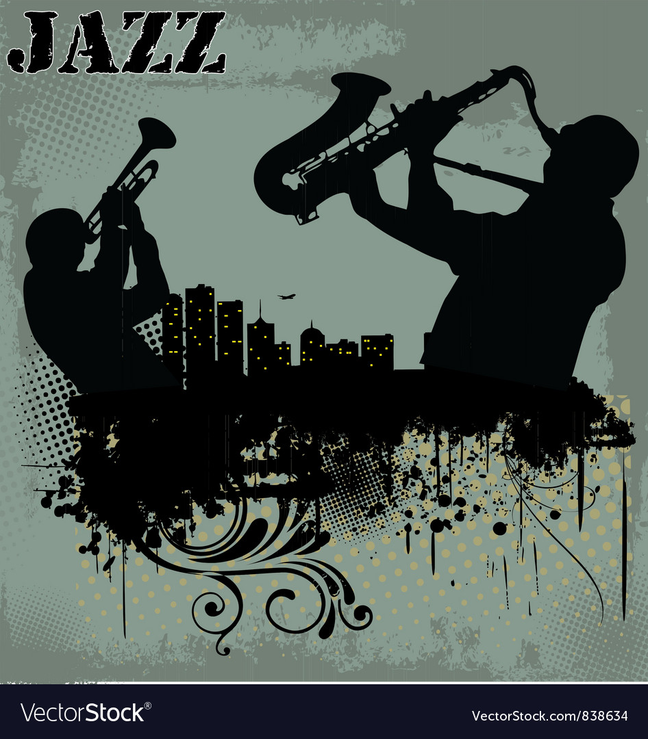 Jazz musician silhouette vector