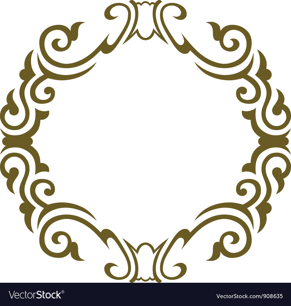 Name Circle Frame With Floral Decorations Vector Graphic | Short News ...