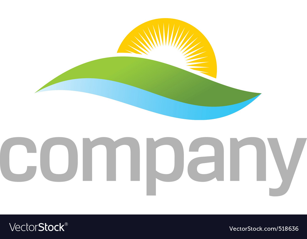 Natural treatment logo vector