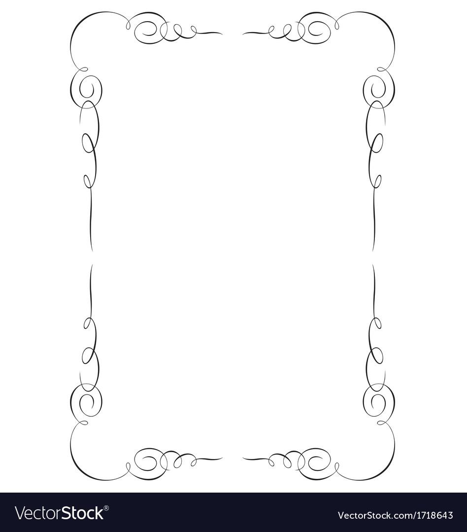 Decorative page border vector by rheyes - Image #1718643 - VectorStock