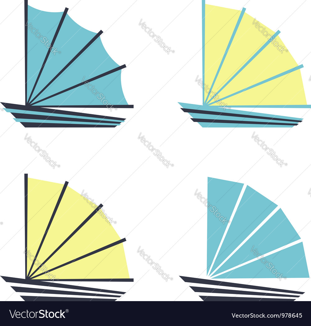 Boat logo icons vector
