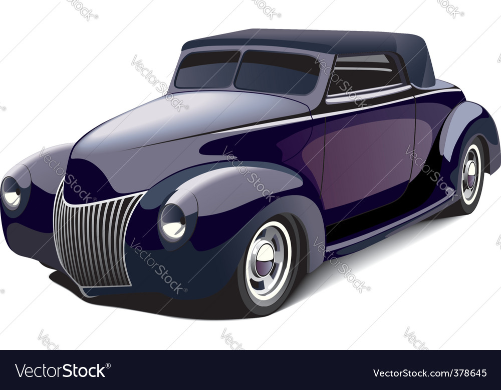 Smart hot rod vector