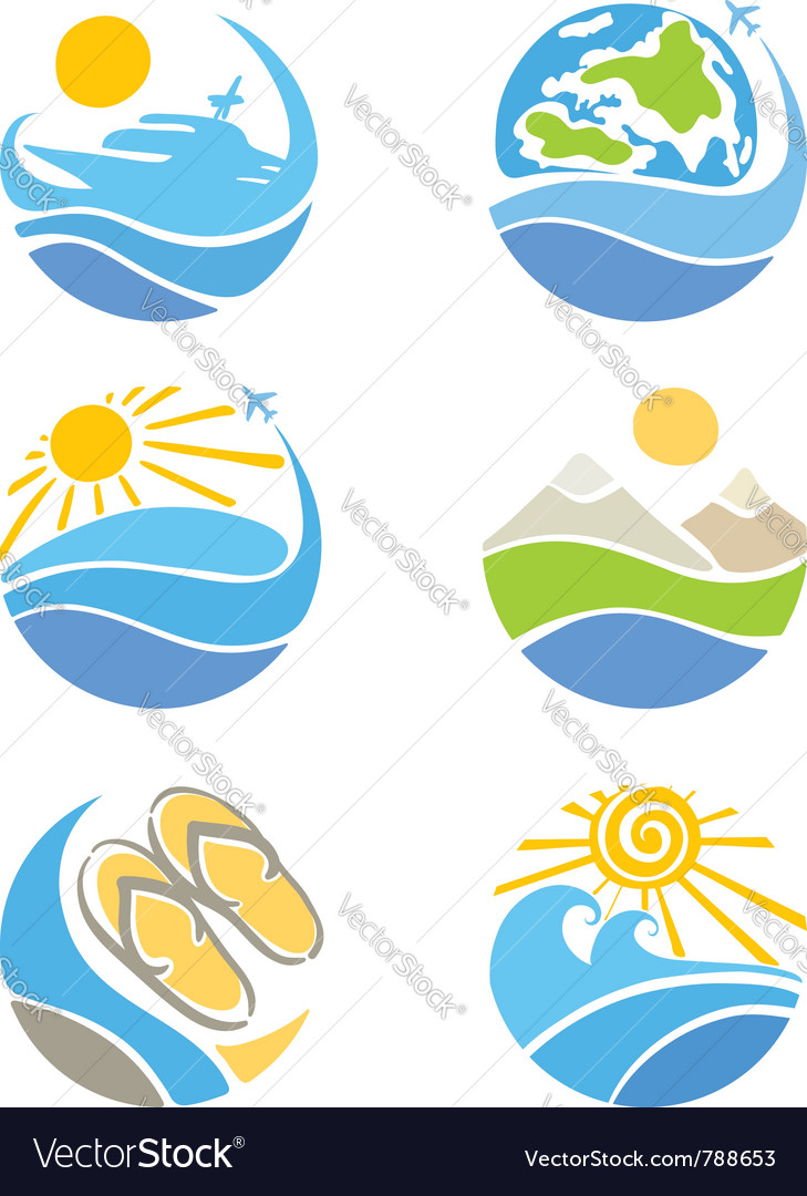Set of icons - travel vector