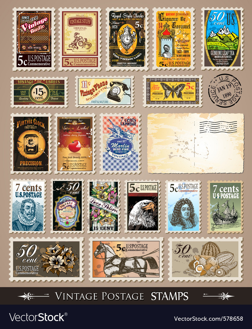Stamp collection vector