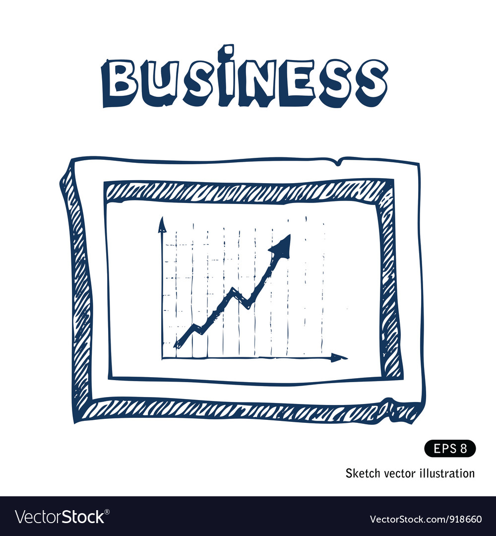 Business graphic frame vector