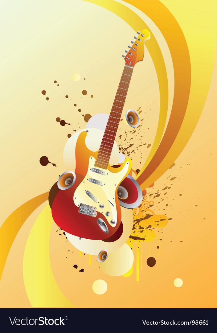 Magic guitar vector