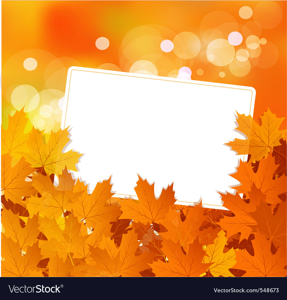 Autumn background vector by alkestida image 548673 vectorstock