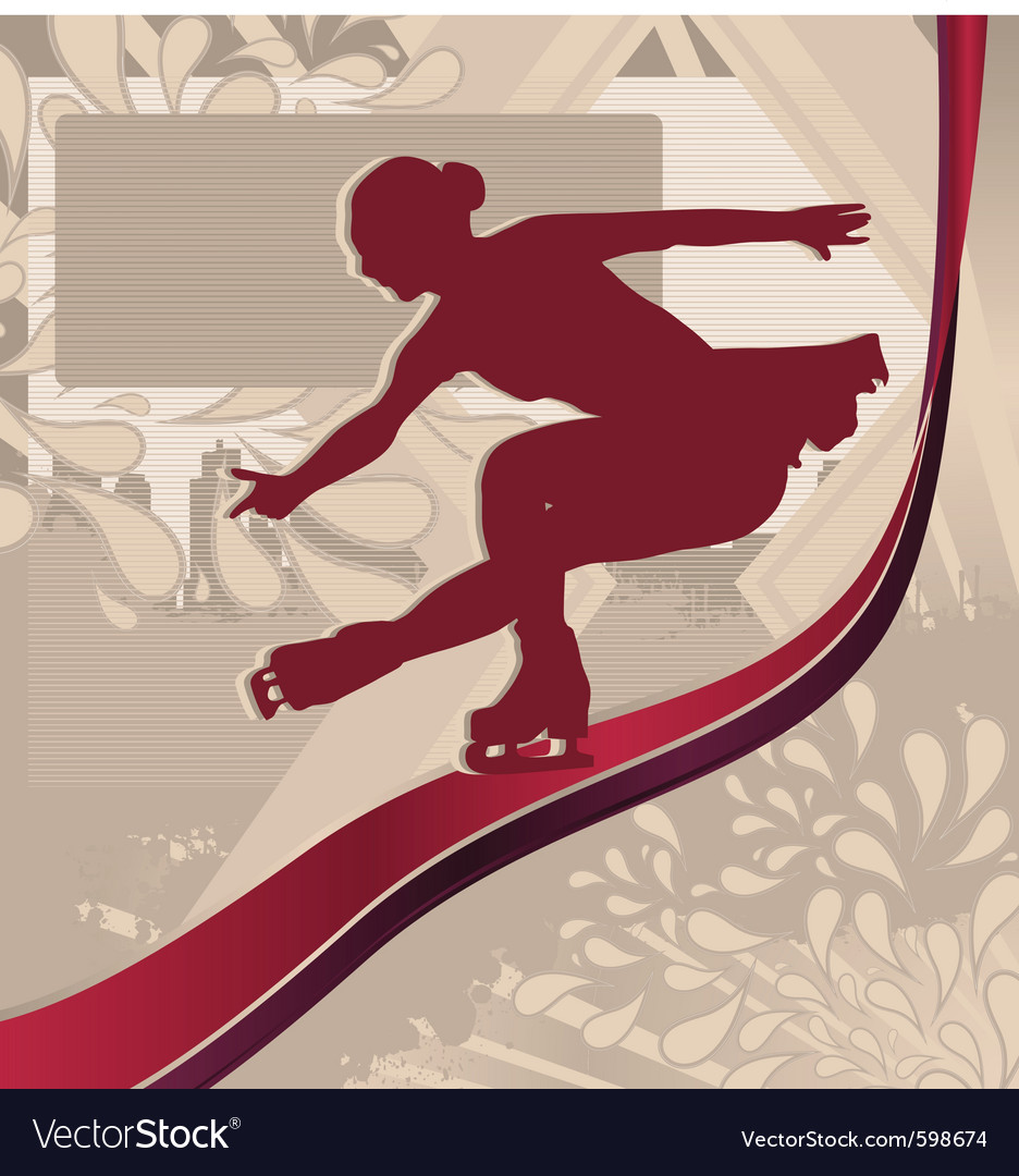 Figure skating vector