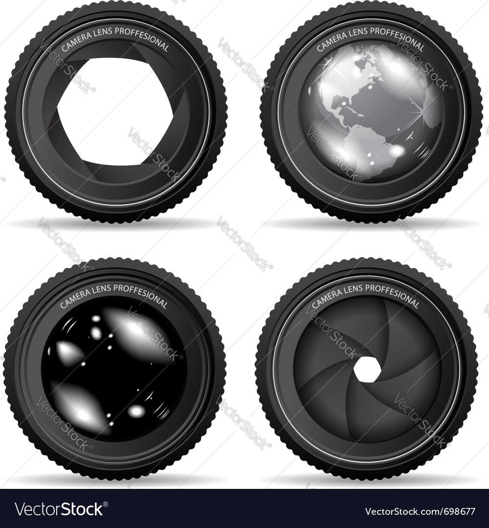 Camera lense vector