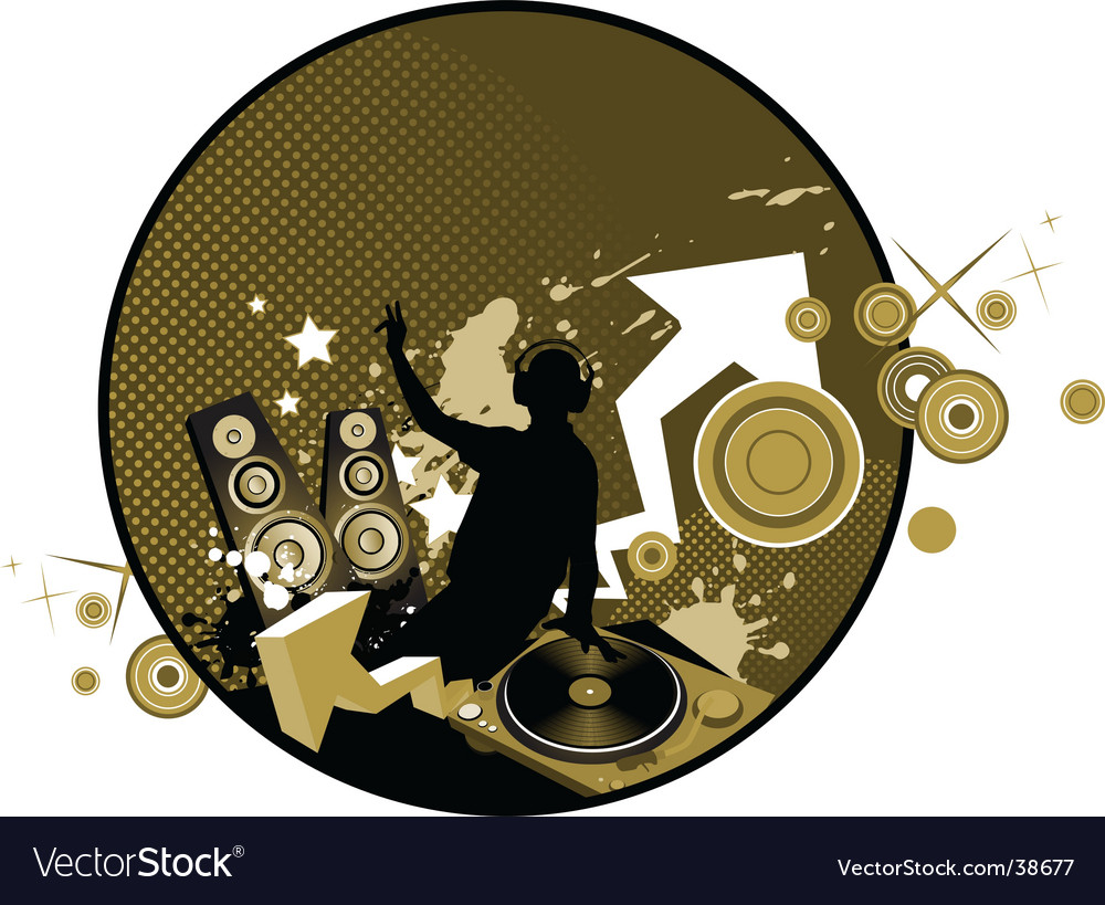 Mixing music concept vector