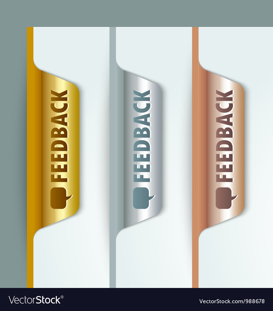 Metallic bookmarks vector