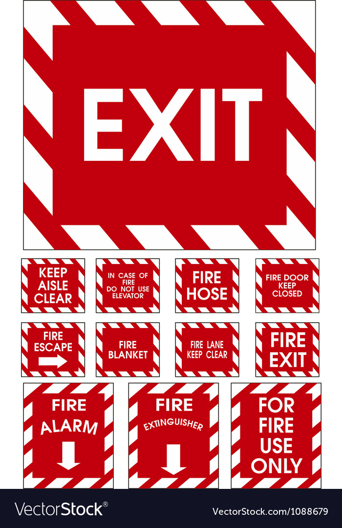Red signs vector