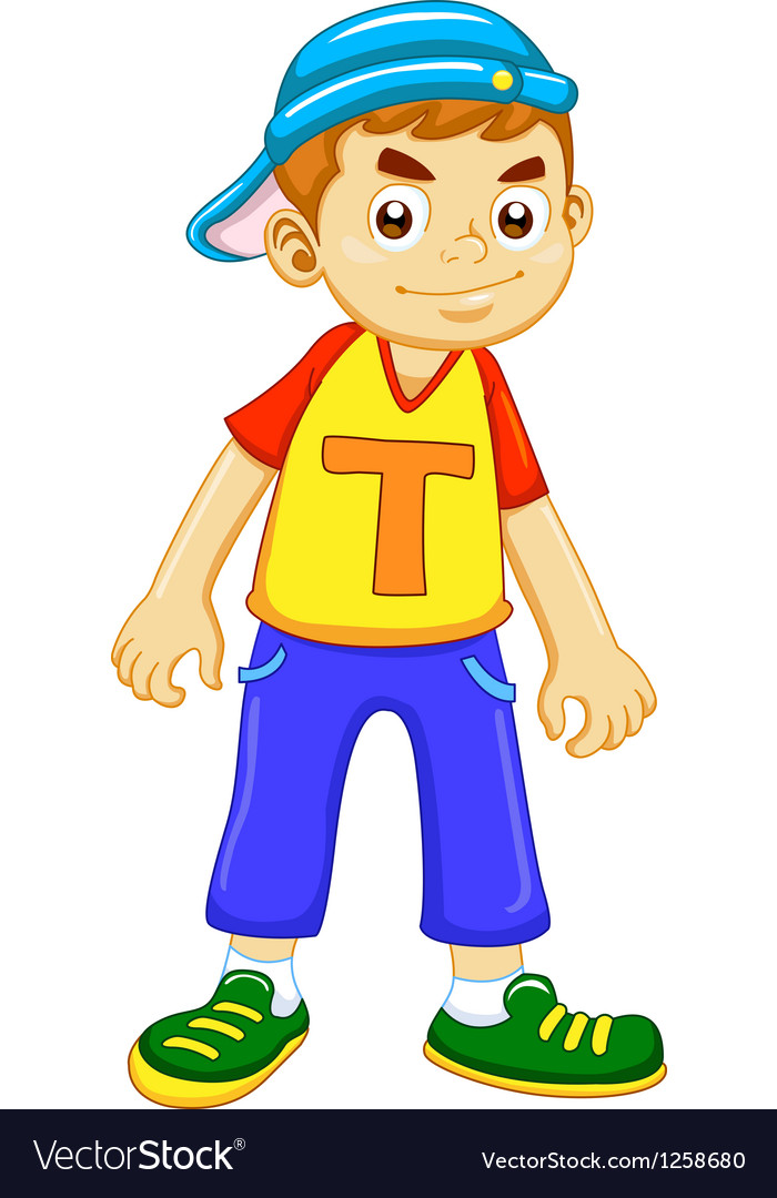 Cartoon boy vector