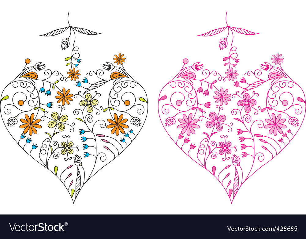 Valentines day heart background  vector