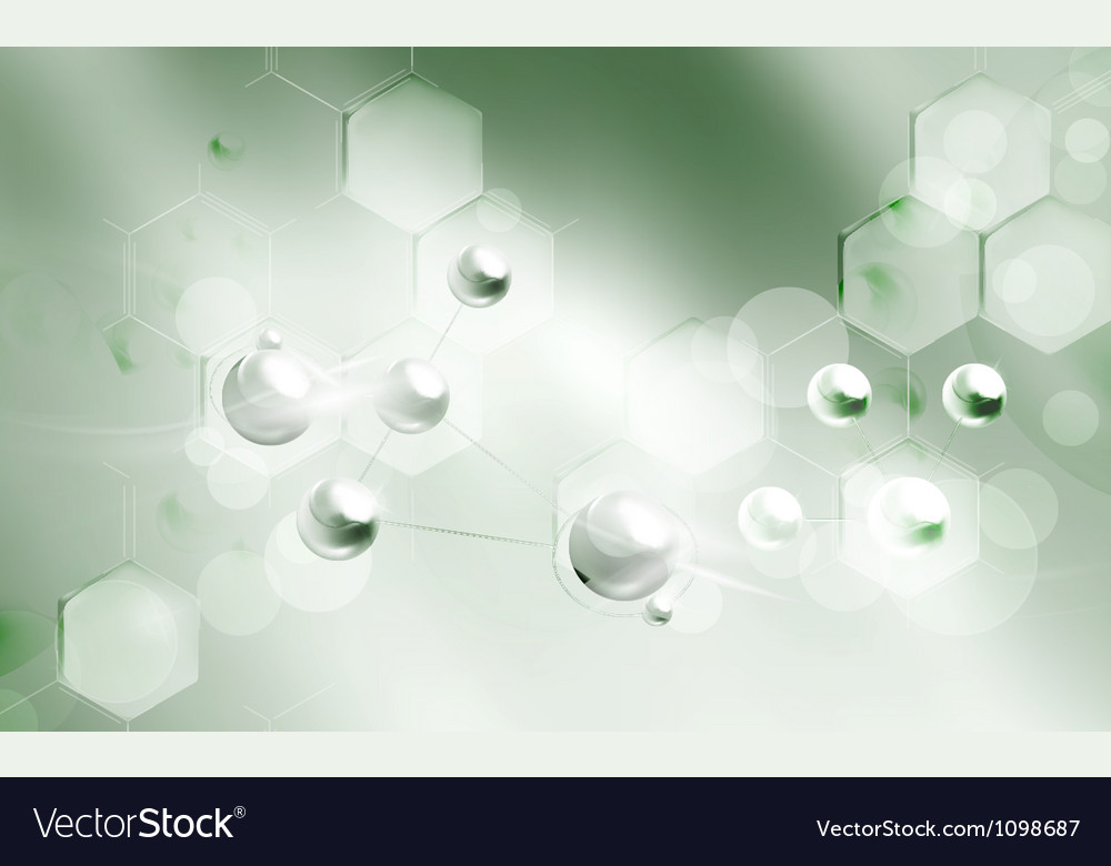 Molecules background vector