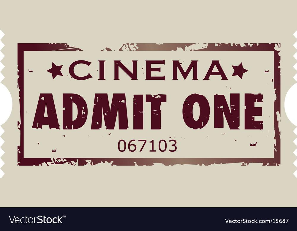 Movie ticket vector
