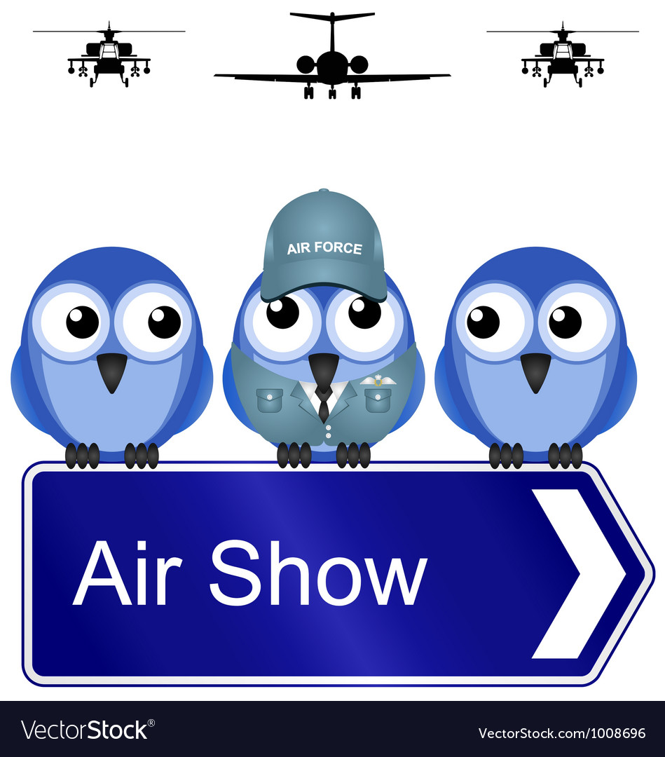 Air show sign vector