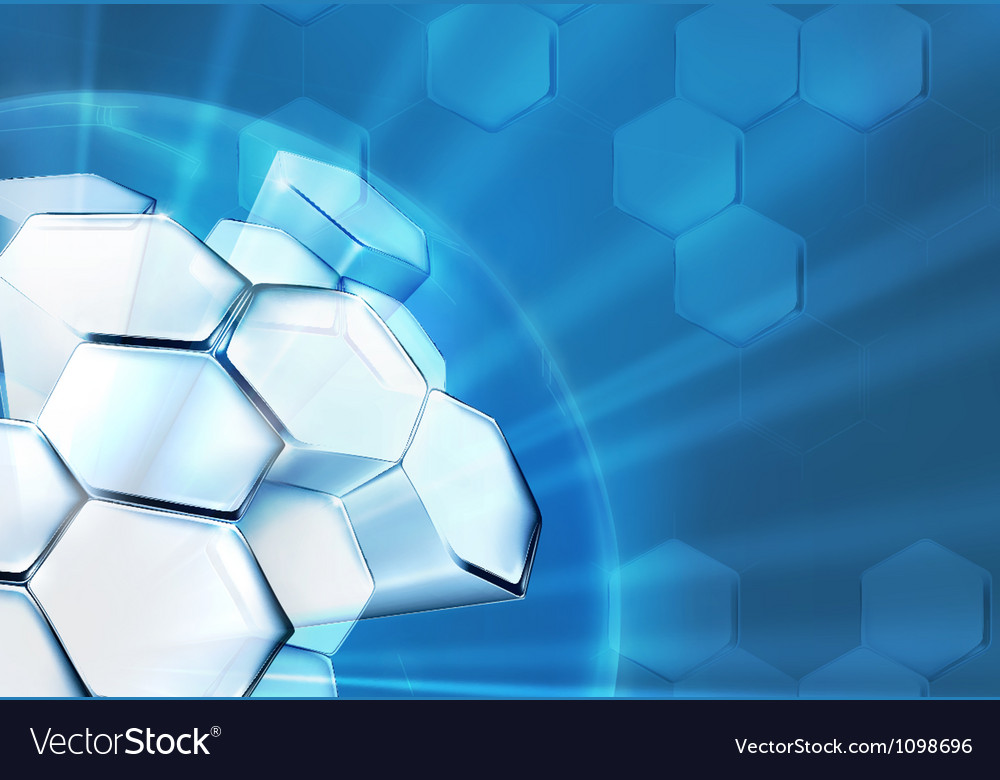 Science background blue vector
