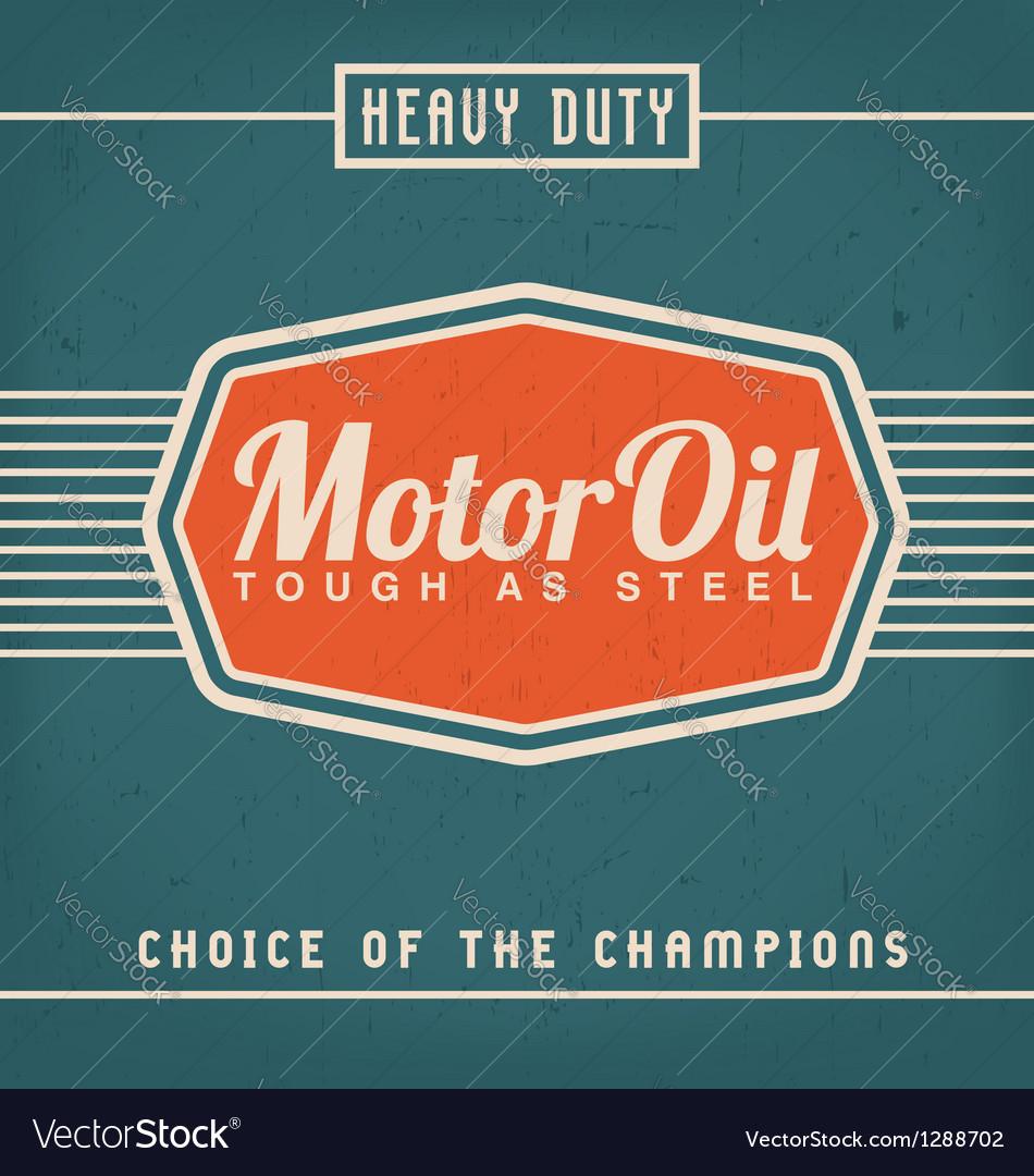 Motor oil design vector