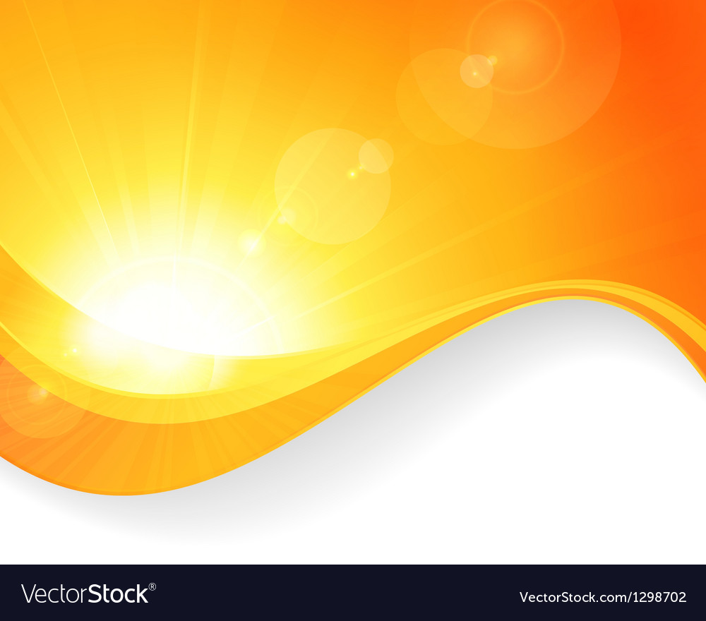 Sun background with wavy pattern vector