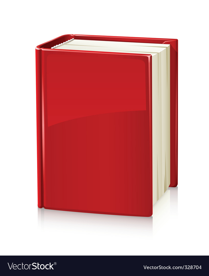 Book with red cover vector