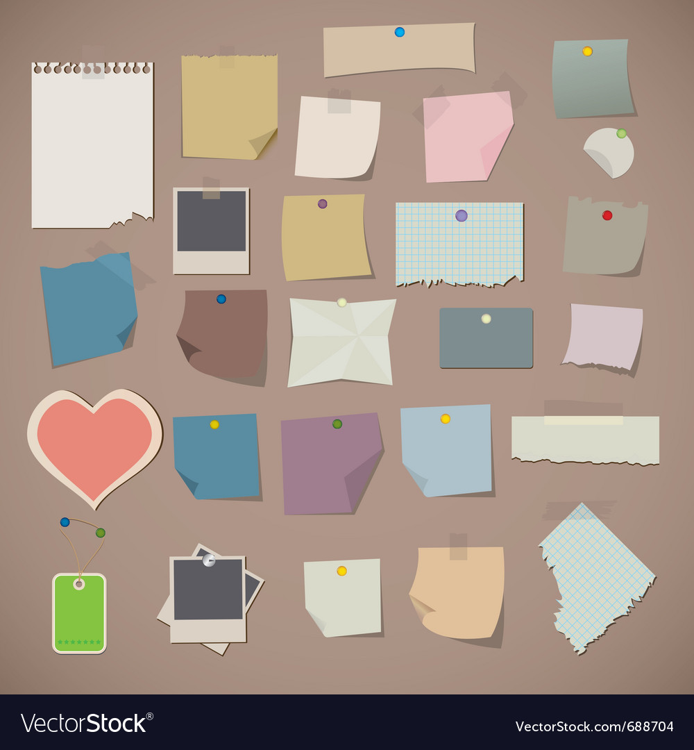 Notes and old paper vector