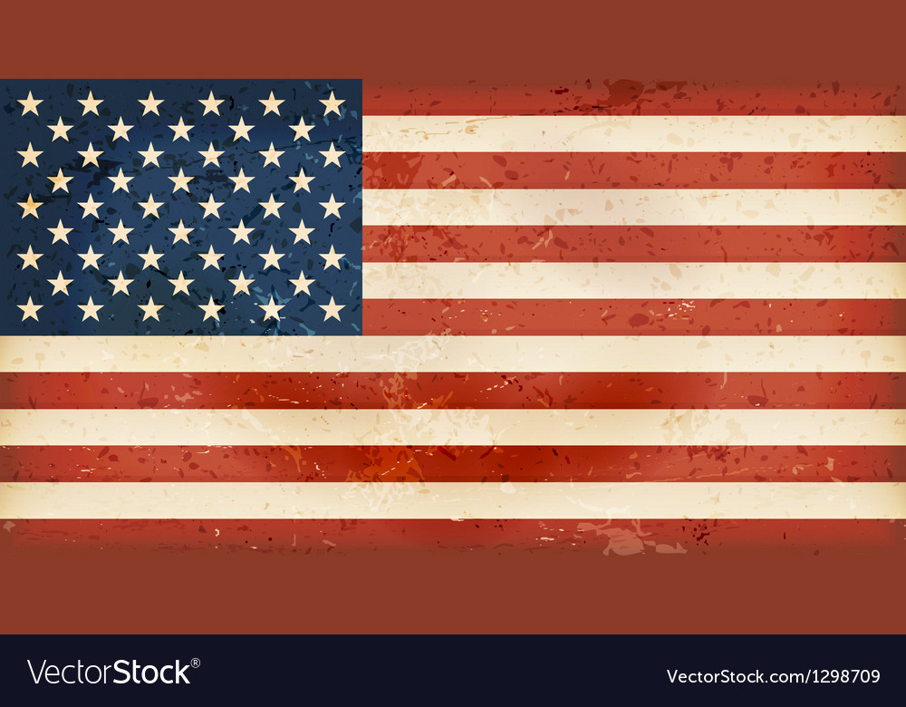 Usa flag with grunge elements vector