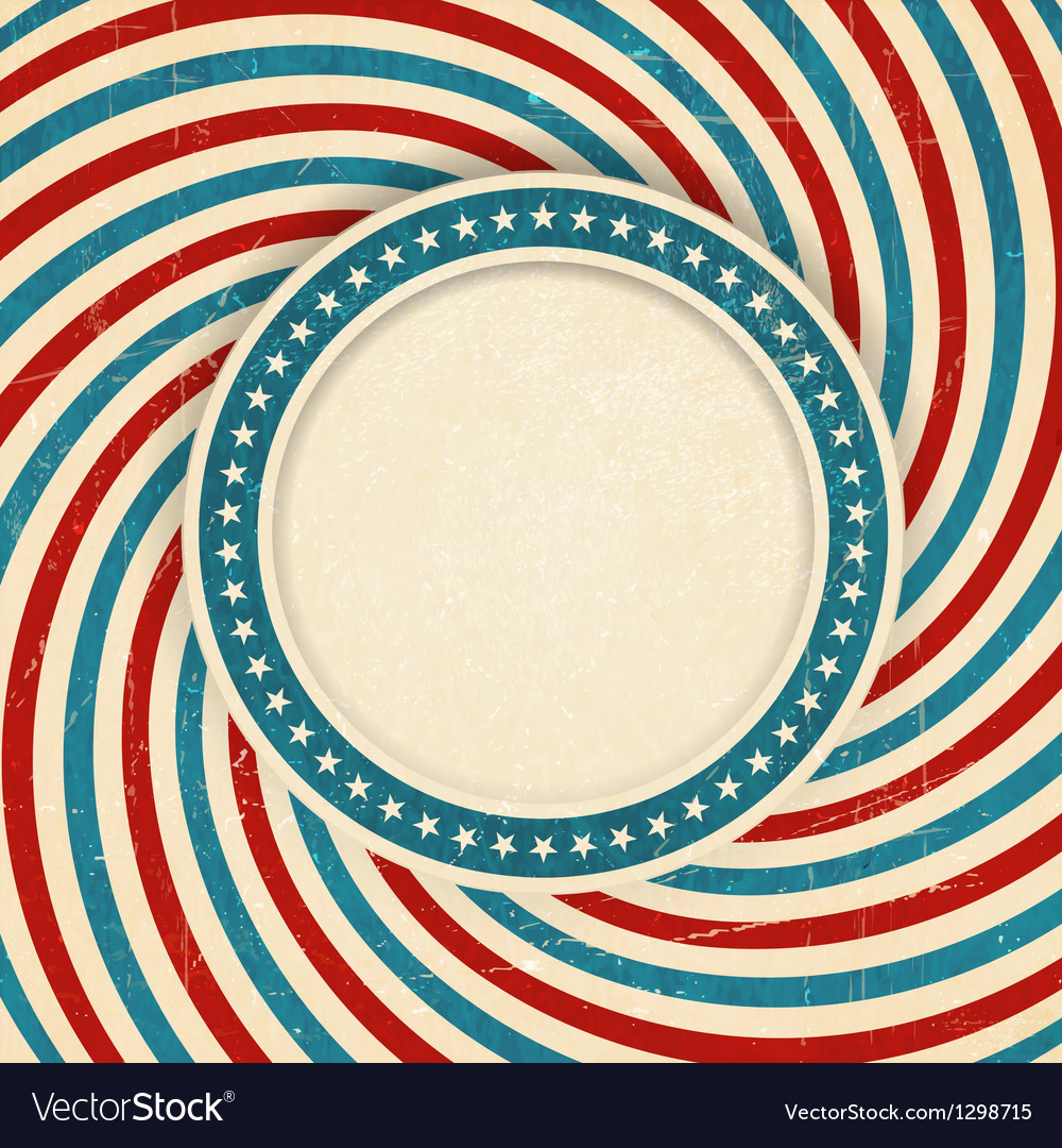 Usa flag themed grunge background vector