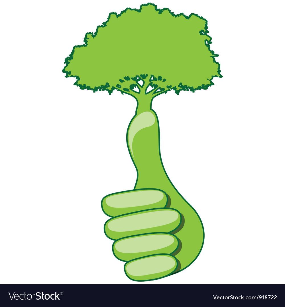 Eco hand vector