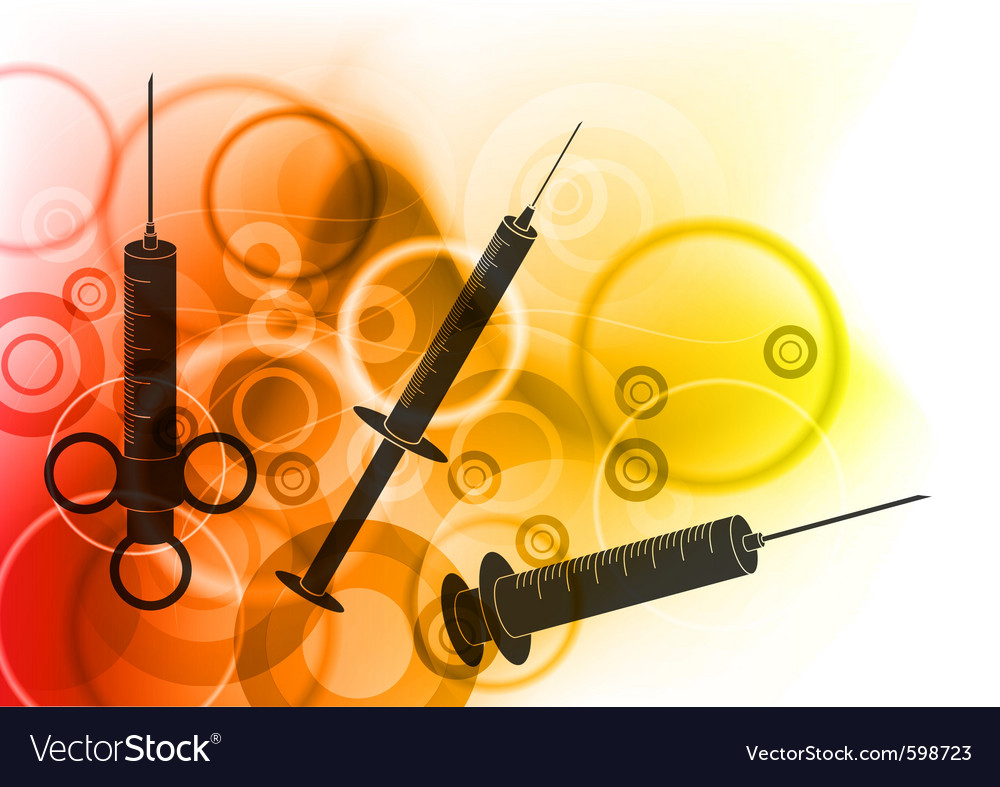 Syringe silhouettes vector
