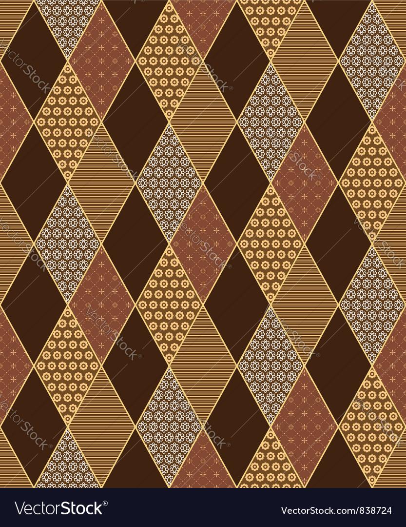 Lozenge motif vector